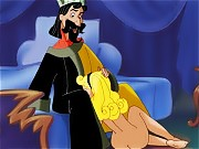 King Stefan is so horny, he can only think of what it feels to sink his royal cock into Aurora's pink pussy