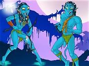 Transsexual pleasures of Avatar - Jake tastes Neytiri's cock