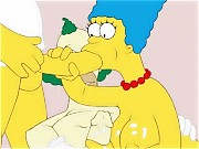 Marge Simpson in an awesome threesome scene!