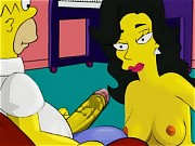 Marge Simpson and Property Agent in Threesome Sex Simpsons Video!